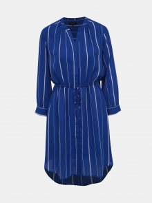 Modré pruhované košilové šaty Selected Femme Damina