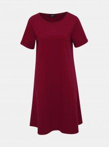 Vínové šaty s kapsami ZOOT