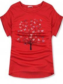 Červené oversized tričko s potiskem