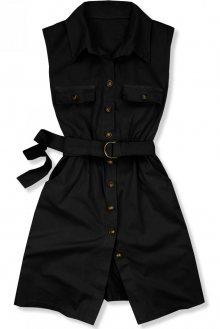 Černé šaty s páskem