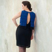 Šaty bez rukávů modrá 42