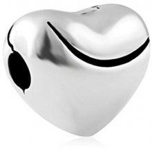 Infinity Love Stříbrný srdíčkový korálek HCL-200-D