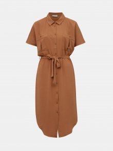 Hnědé košilové šaty VILA Rasha