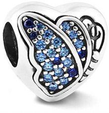 Infinity Love Srdíčkový korálek s motýlkem HSZ-1243-D