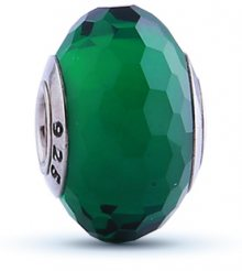 Infinity Love Zelený skleněný korálek HGPL-069