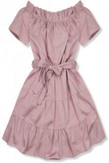 Růžové letní šaty