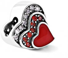 Infinity Love Stříbrný srdíčkový korálek HE-921-D