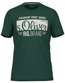 s.Oliver Pánské triko 13.906.32.5206.7897 Green S