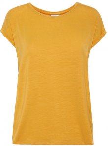 Vero Moda Dámské triko Ava Plain Ss Top Ga Noos Amber Gold S