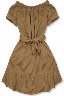 Hnědé letní šaty