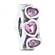 Infinity Love Stříbrný oddělovač se srdíčky HSZ-1262-D