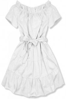 Bílé letní šaty