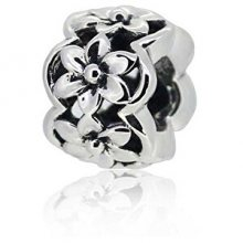 Infinity Love Stříbrný oddělovač s květy HS-1116-D