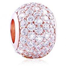 Infinity Love Třpytivý korálek ze stříbra RSZ-223-W-S