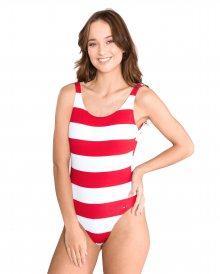 Cheeky Jednodílné plavky Tommy Hilfiger | Červená Bílá | Dámské | L
