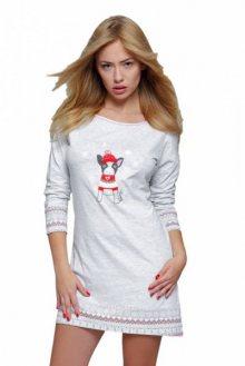 Sensis Littlel dog noční košile XL šedo-červená