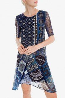 Desigual modré šaty Vest Amanda - S