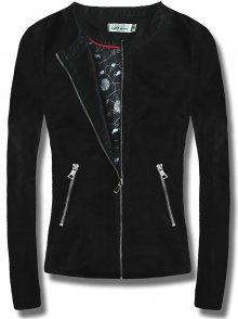 MODOVO Dámská koženková bunda T130 černá
