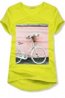 Neonově zelené tričko s motivem