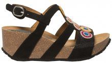 Desigual Dámské sandále Shoes Odisea Flower Beads Negro 19SSHF02 2000 38