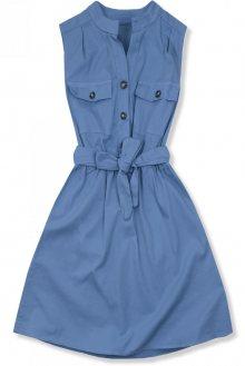 Jeans modré šaty se zapínáním