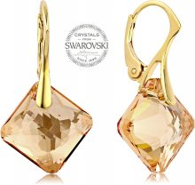 Levien Náušnice se zlatavými krystaly Princess