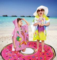 Dívčí plážové pončo