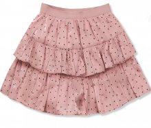 Růžová tečkovaná sukně