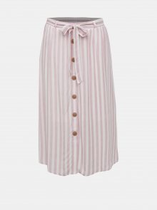 Bílo-růžová pruhovaná sukně VERO MODA AWARE Hailey