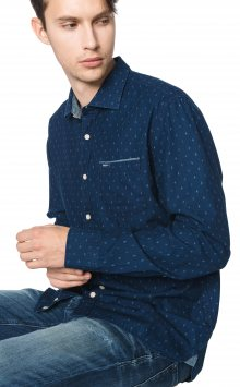 Baily Košile Pepe Jeans   Modrá   Pánské   M