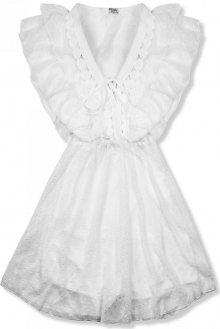 Bílé lehké šifónové šaty