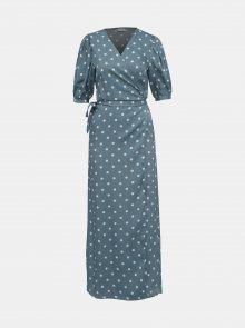 Modré puntíkované zavinovací šaty VILA Doletta