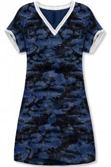 Modré army šaty PLUS SIZE