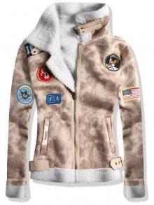 Béžová kožešinová bunda 961
