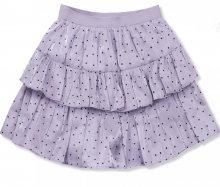 Lila tečkovaná sukně