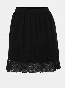 Černá sukně s madeirou VERO MODA Aisha