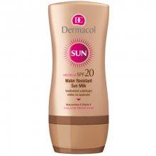 Dermacol Voděodolné zvláčňující mléko na opalování SPF 20 Sun (Water Resistant Sun Milk) 200 ml - SLEVA - poškozené víčko