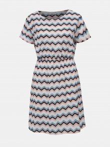Bílo-modré vzorované šaty Haily´s Evi
