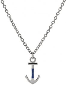 Fossil Pánský ocelový náhrdelník s kotvou JF02878040