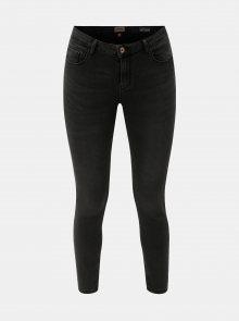 Tmavě šedé skinny džíny s push up efektem ONLY Daisy
