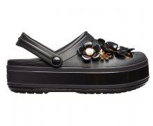 Crocs Pantofle CB Platform Metallic Blooms Clg/Black 205700-001 39-40