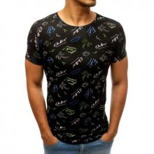 Pánské STYLE tričko s potiskem černé