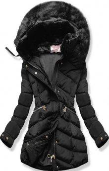 MODOVO Dámská zimní bunda s kapucí W732 černá