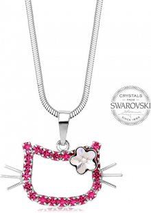 Levien Dívčí náhrdelník Kočička s kytičkou Rose
