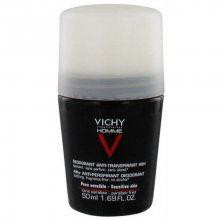 Vichy Deodorant pro citlivou pokožku Homme 48H Deo roll-on (Anti-Transpirant Extra Sensitive) 50 ml