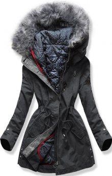 MODOVO Dámská zimní bunda s kapucí PO-730 grafitová