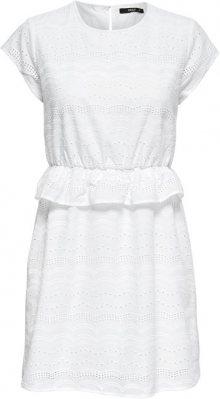 ONLY Dámské šaty Silvija Capsleeve Anglais Dress Wvn Bright White 38