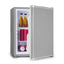 Klarstein Nagano M, mini lednička, 44 l, 0 dB, 0 - 8 °C, nehlučná, 56 cm, stříbrná