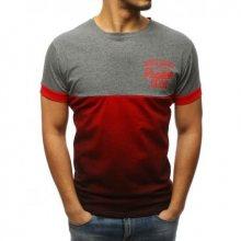 Pánská tričko CHOICE s potiskem šedo-červené
