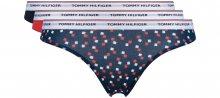 Kalhotky 3 ks Tommy Hilfiger   Modrá Červená   Dámské   L